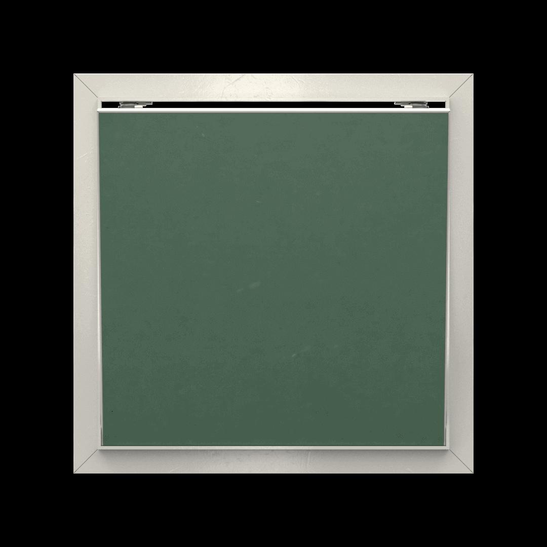 Trappe de visite plaque de plâtre Tempo Eco Green pousser lâcher trape de visite plaque de platre eco green ouvert