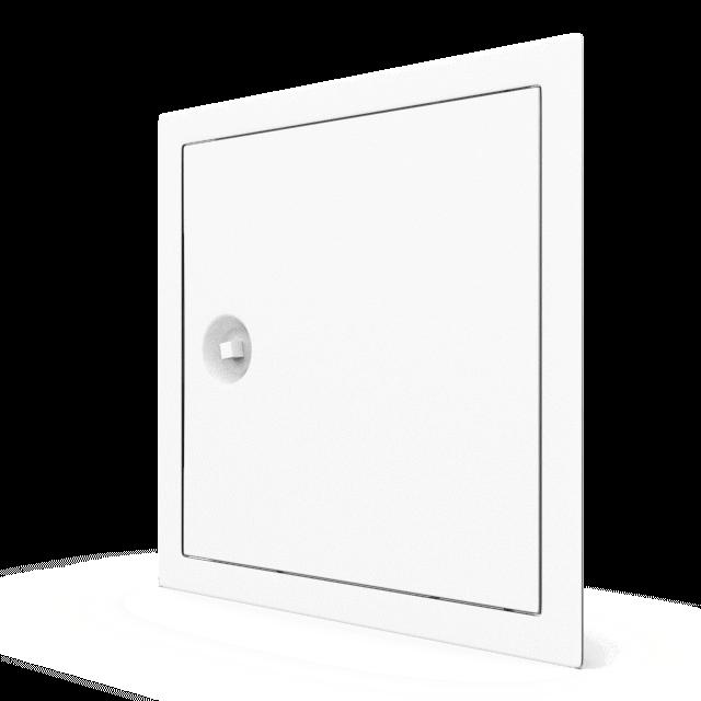 Trappe de visite métallique blanc trappe de visite metallique softline ouverture 4 pans 360