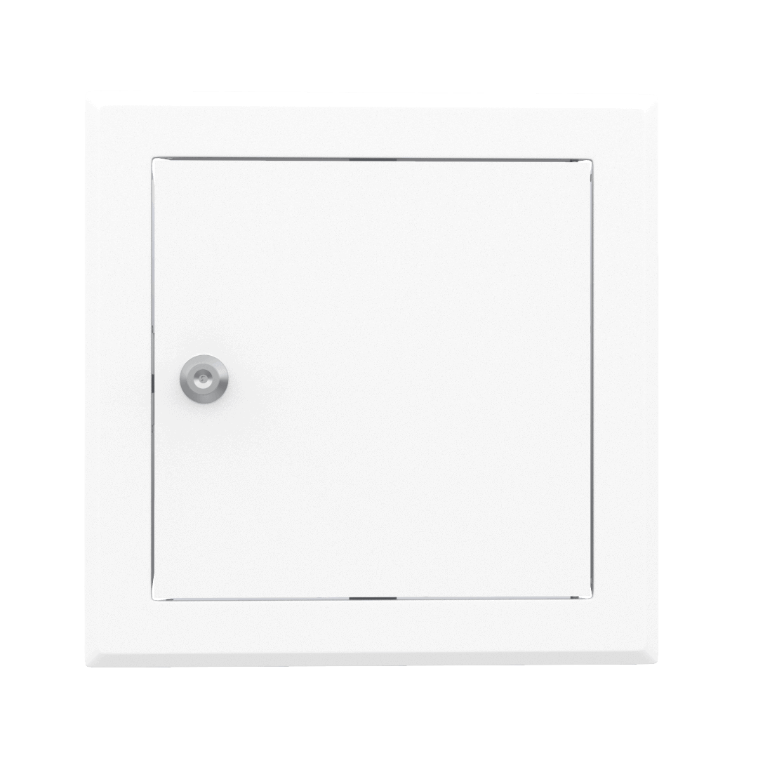 Trappe de visite métallique blanc trappe de visite metallique softline ouverture cle cylindrique