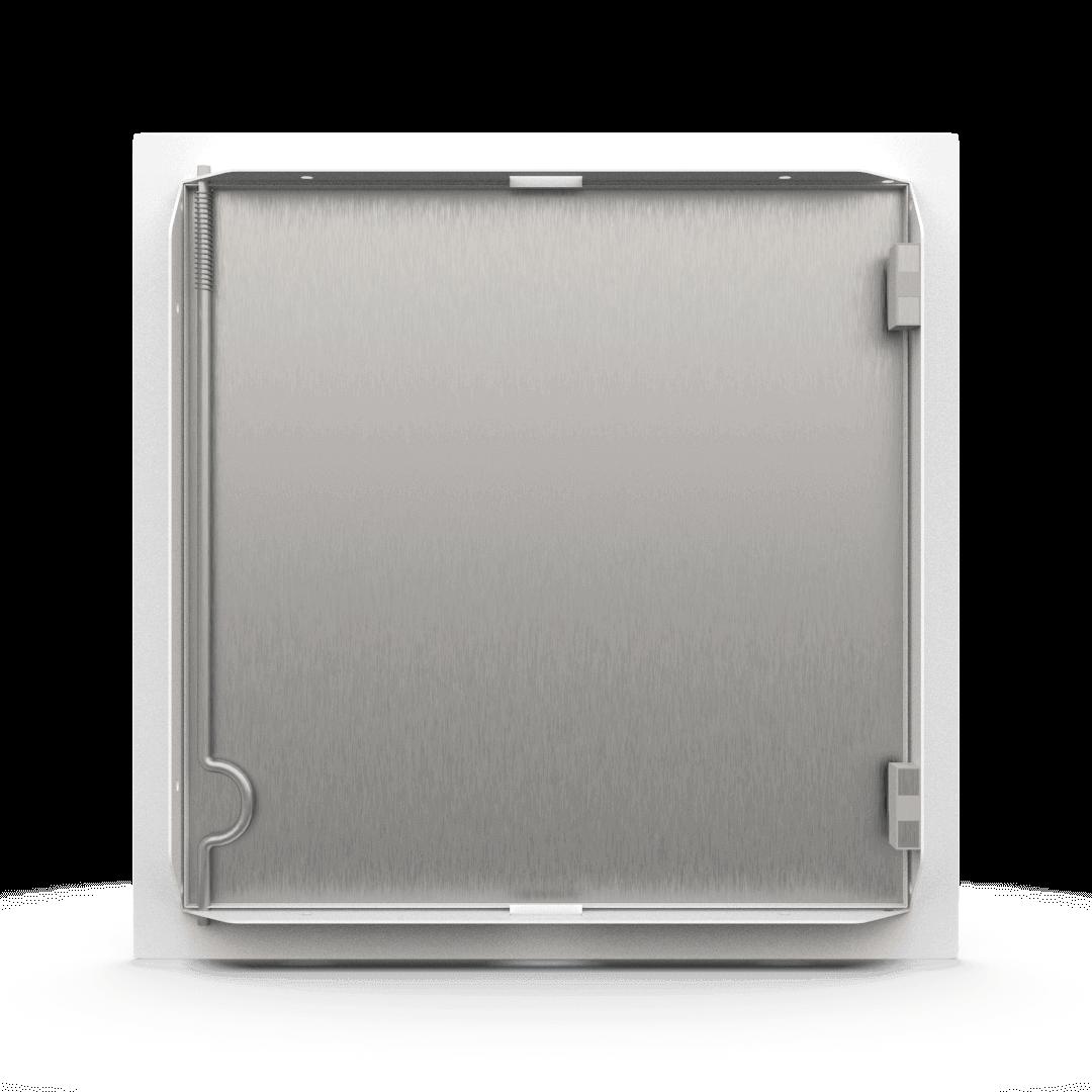 Trappe de visite métallique blanc trappe de visite metallique softline ouverture pousser lacher derriere