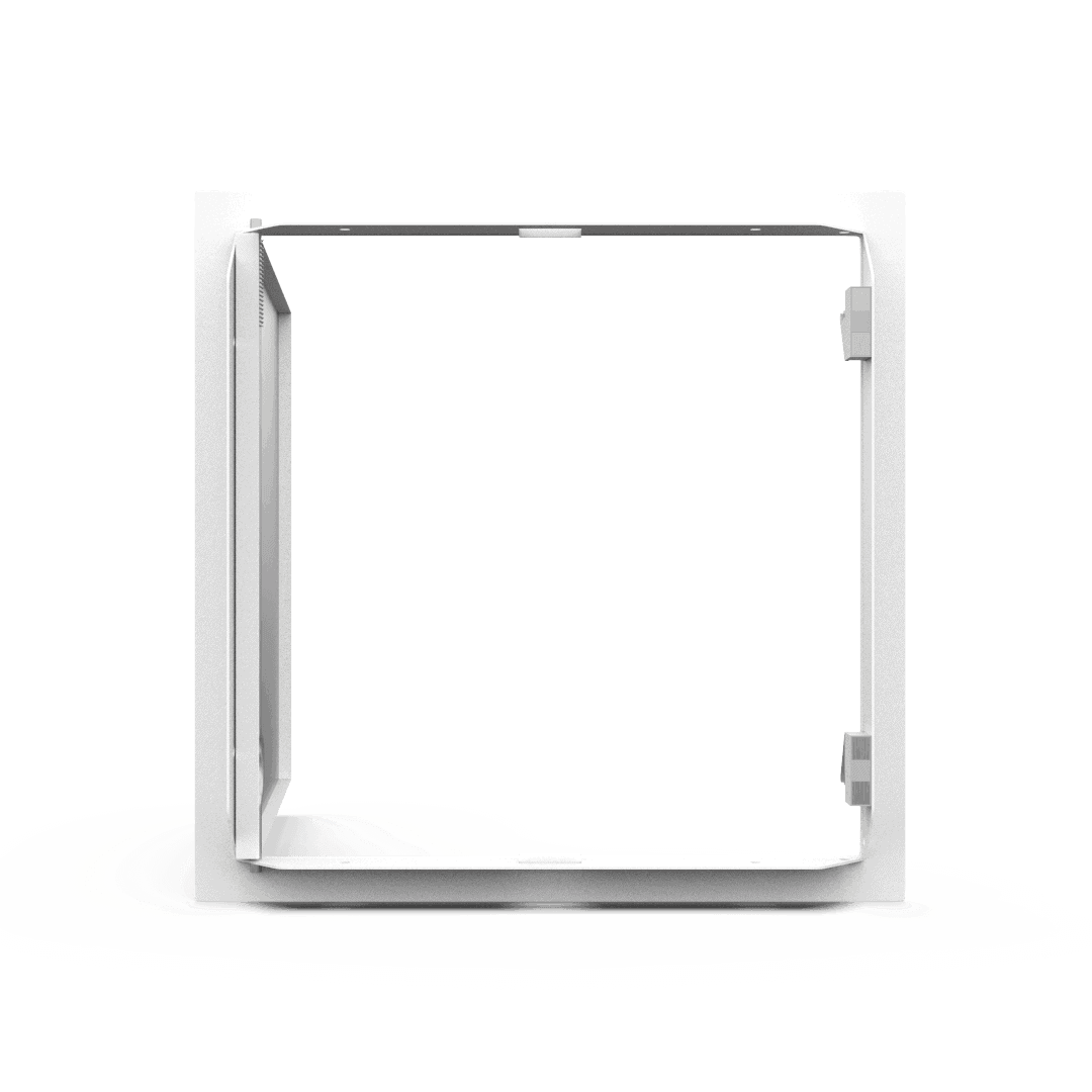 Trappe de visite métallique blanc trappe de visite metallique softline ouverture pousser lacher ouvert derriere