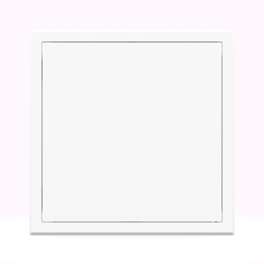 Trappe de visite métallique blanc trappe de visite metallique softline ouverture pousser lacher