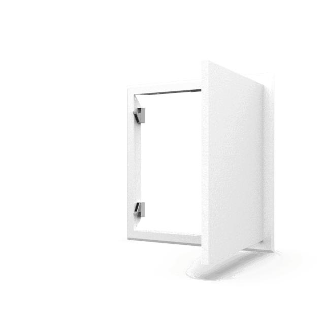 Trappe de visite métallique blanc trappe de visite metallique softline pousser lacher 360 0 10