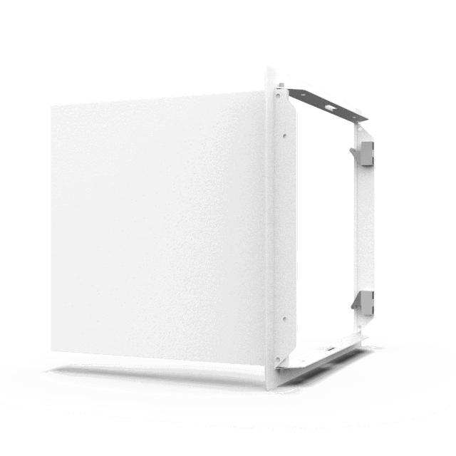 Trappe de visite métallique blanc trappe de visite metallique softline pousser lacher 360 0 14