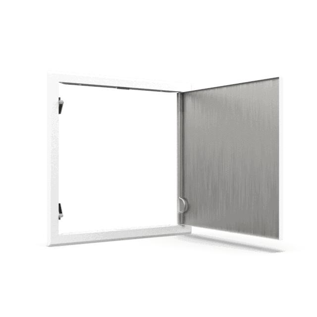 Trappe de visite métallique blanc trappe de visite metallique softline pousser lacher 360 0 7