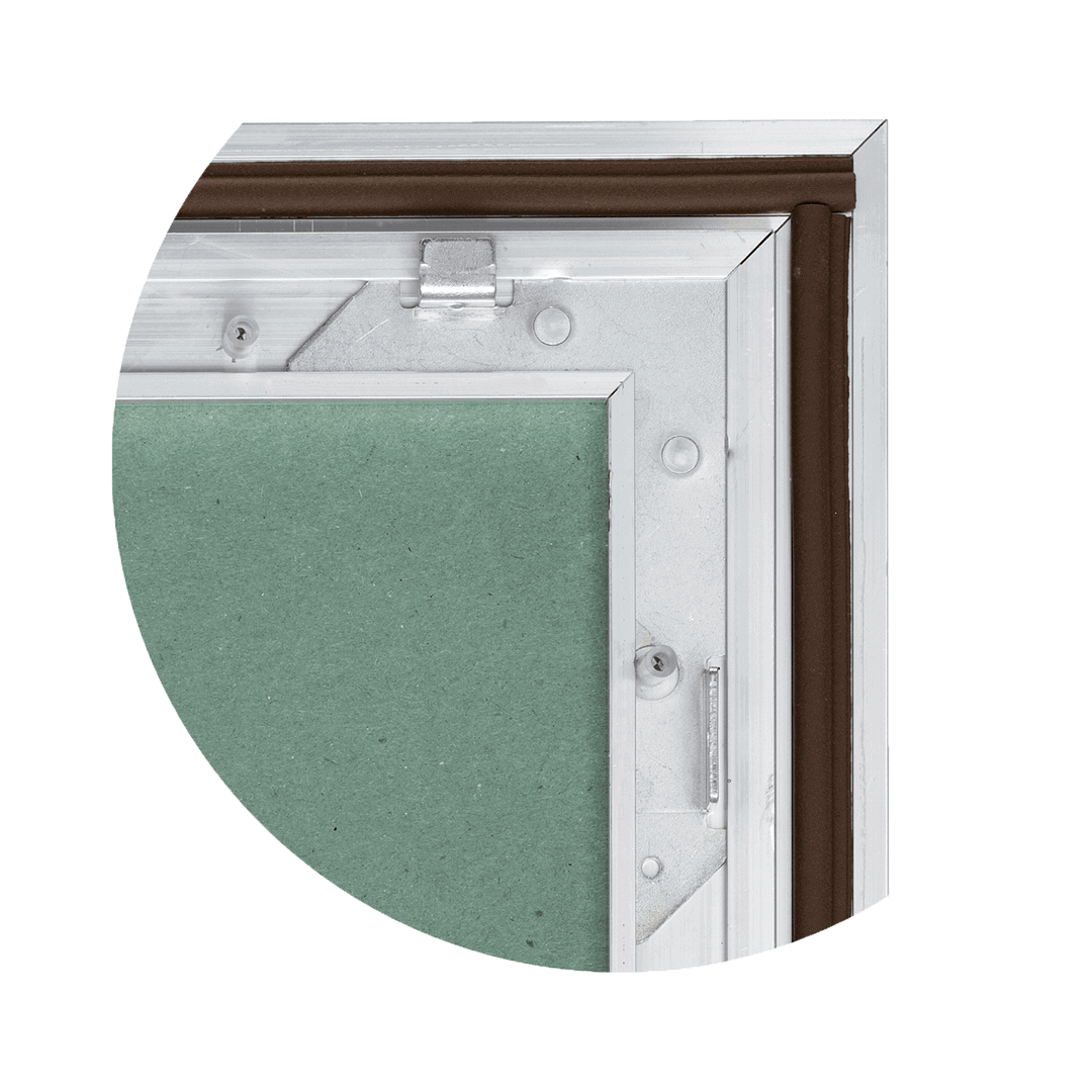 Trappe de visite étanche 12,5mm ou 25mm Alu Quattro 22 988 Detail