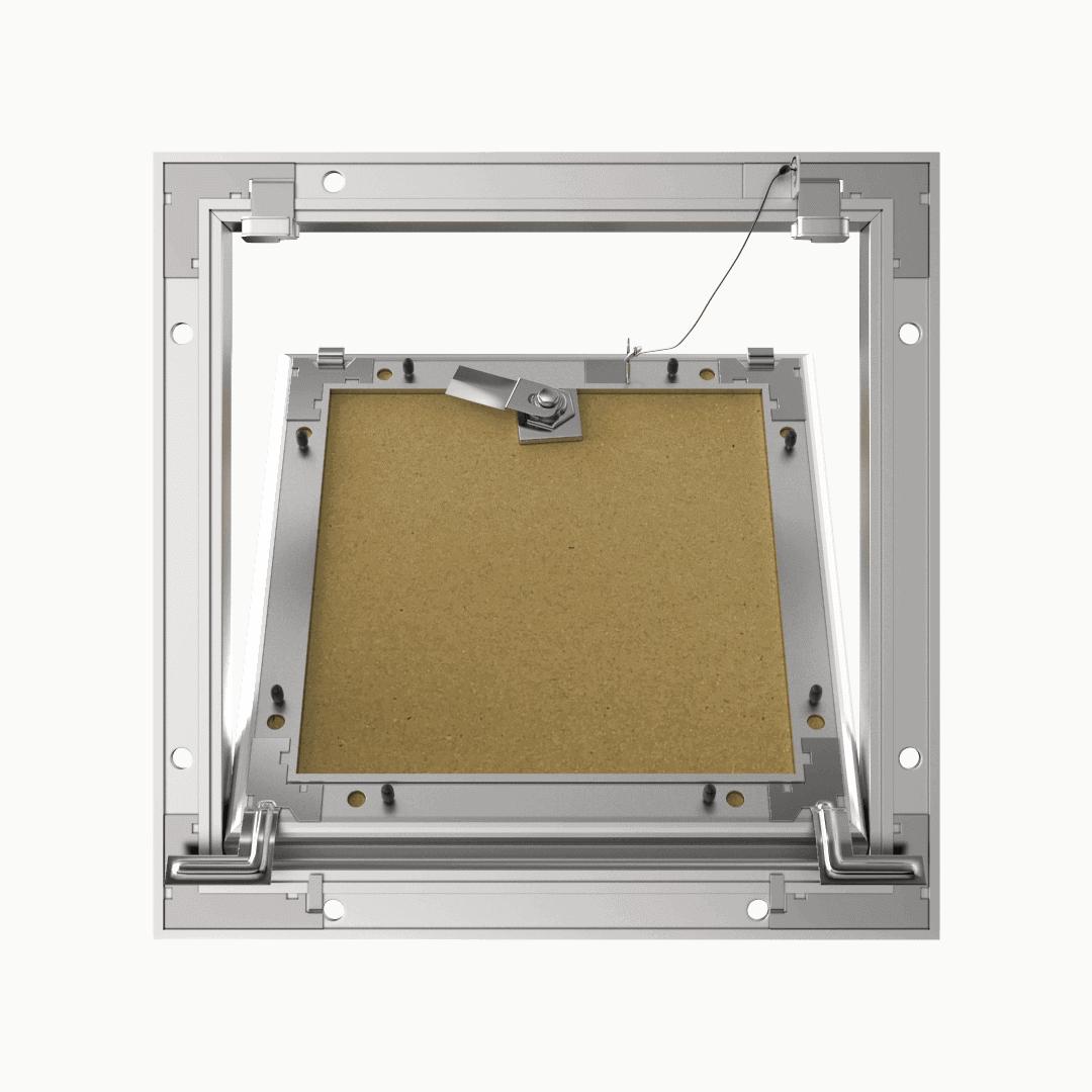 Trappe de visite plaque de plâtre 18 mm Eco Star trape de visite plaque de platre alustar 4 pans ouvert derriere