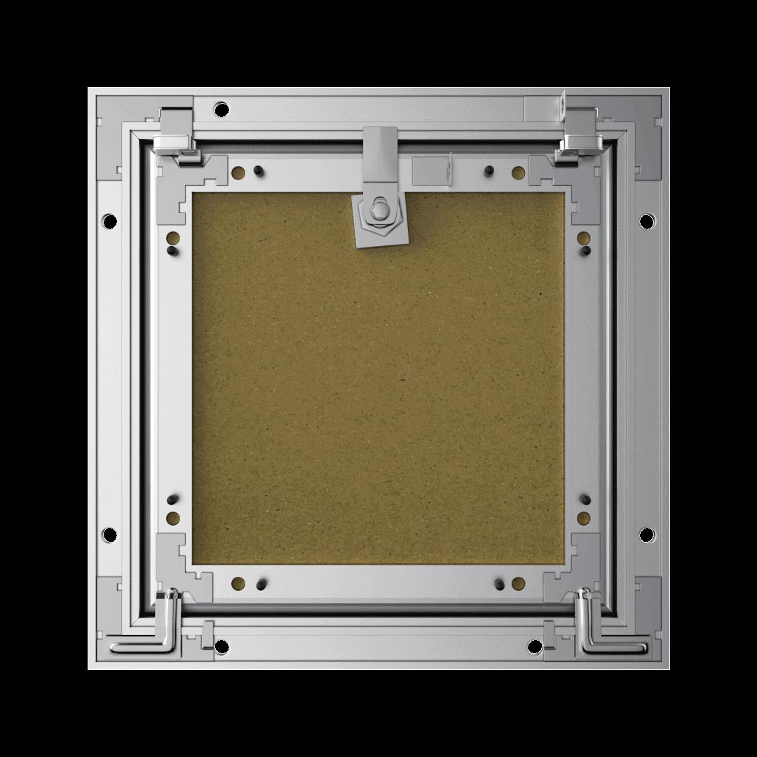 Trappe de visite plaque de plâtre 12,5 mm Eco Star trape de visite plaque de platre alustar cle cylindrique derriere