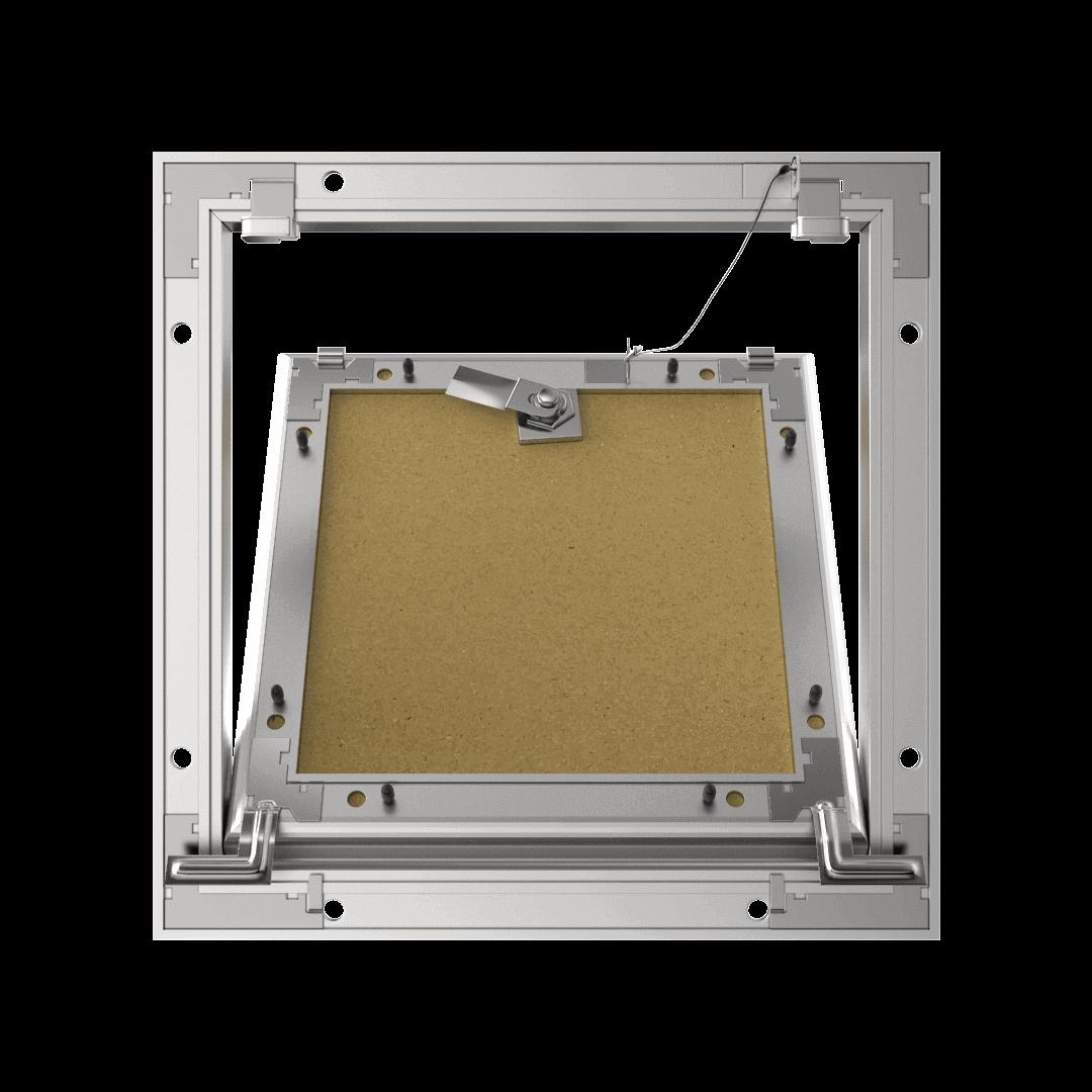 Trappe de visite plaque de plâtre 12,5 mm Eco Star trape de visite plaque de platre alustar cle cylindrique ouvert derriere