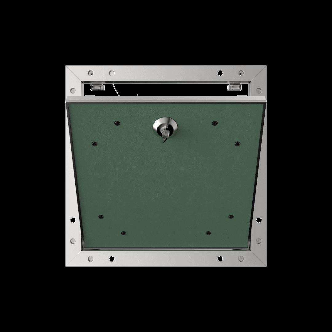 Trappe de visite plaque de plâtre 12,5 mm Eco Star trape de visite plaque de platre alustar cle cylindrique ouvert