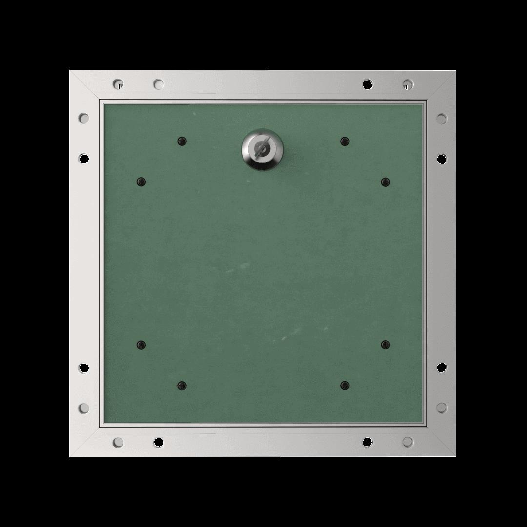 Trappe de visite plaque de plâtre 18 mm Eco Star trape de visite plaque de platre alustar cle cylindrique