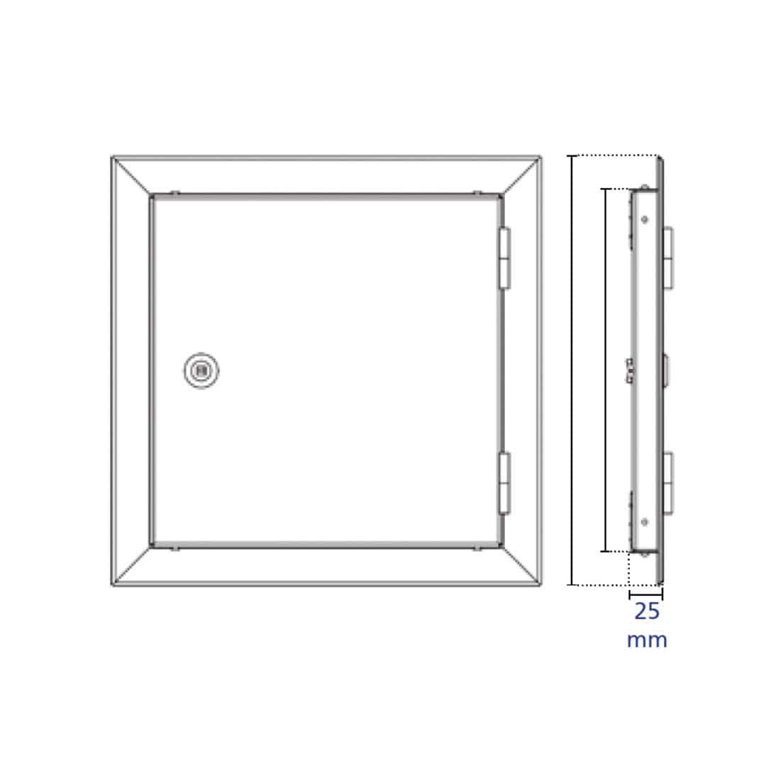 Trappe de visite étanche à l'air, à la poussière, isolation thermique et acoustique, clé 4 pans trappe de visite etanche air softline solid airproof plan