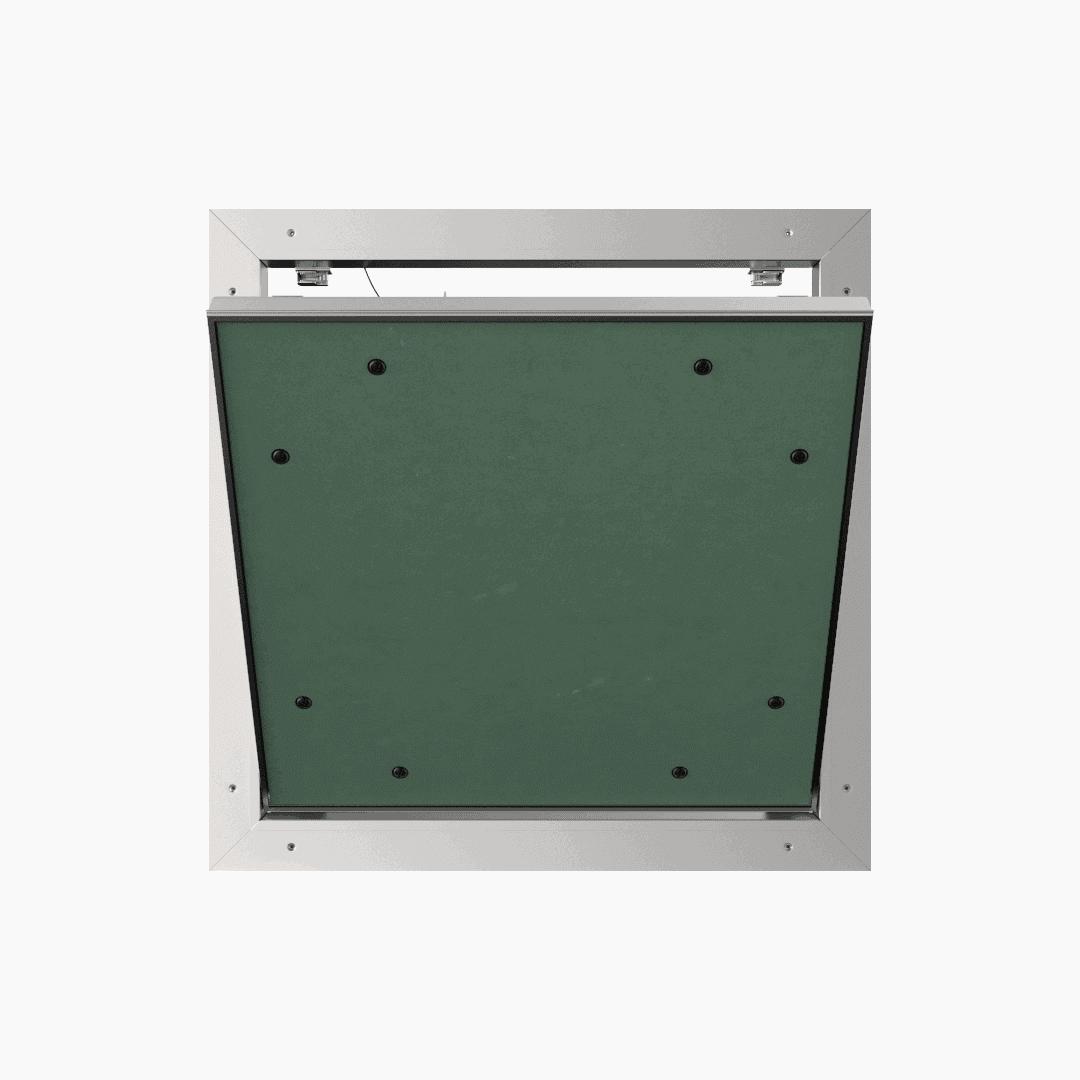 Trappe de visite plaque de plâtre 12,5 mm Eco Star trappe de visite plaque de platre alustar pousser lacher ouvert