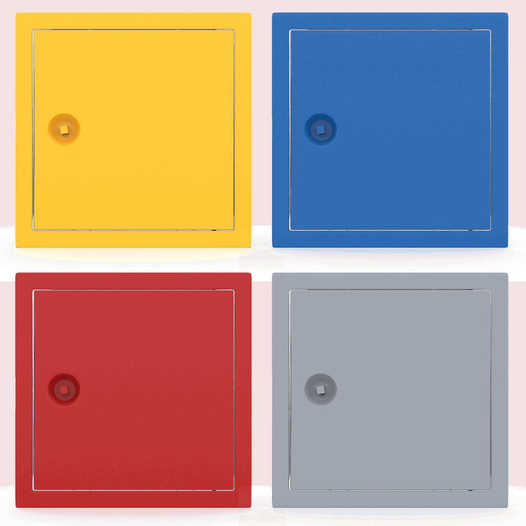 Trappe de visite métallique colorée