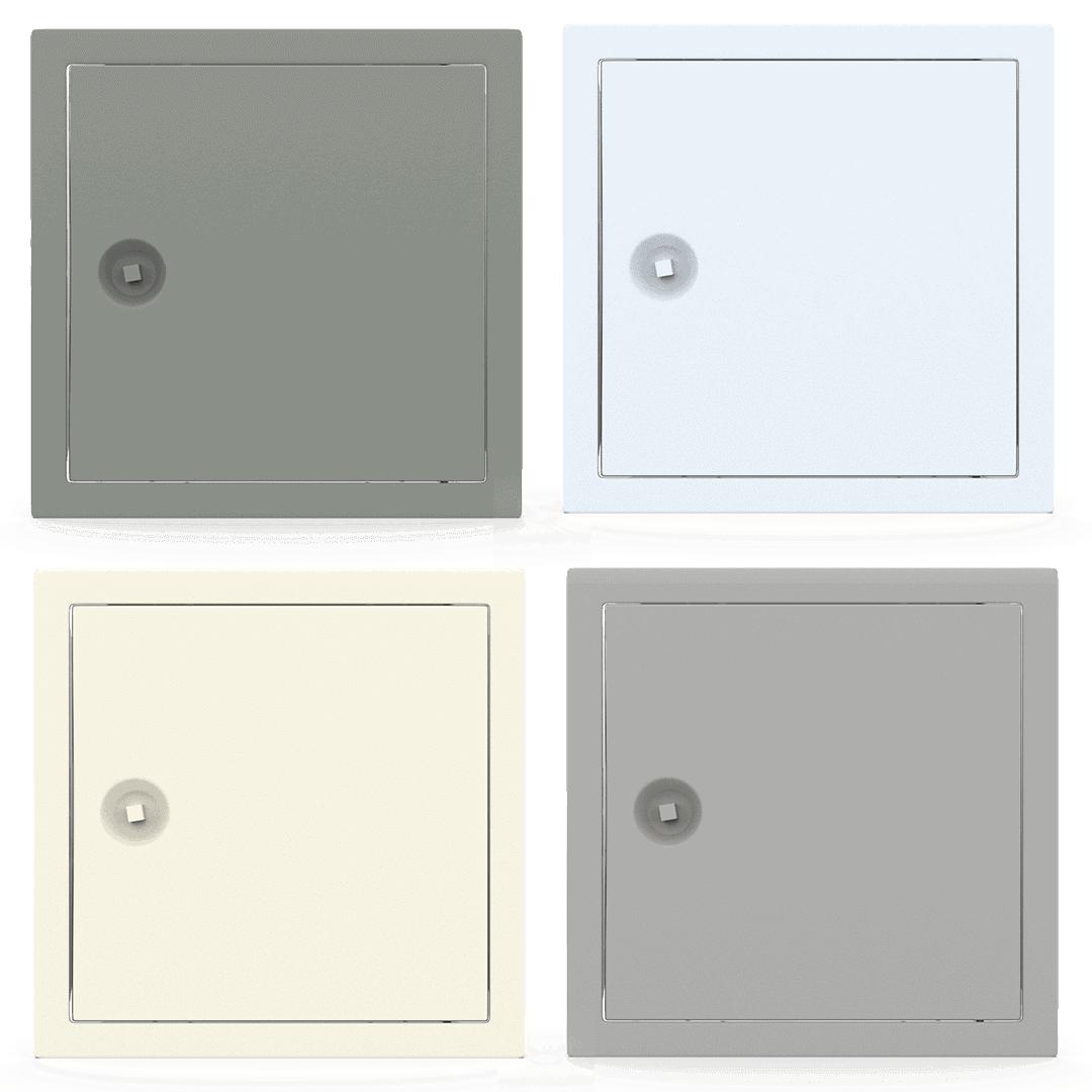 Trappe de visite métallique colorée Tempo Softline Clé carrée trappe visite metallique coloree tempo softline cle carree 03