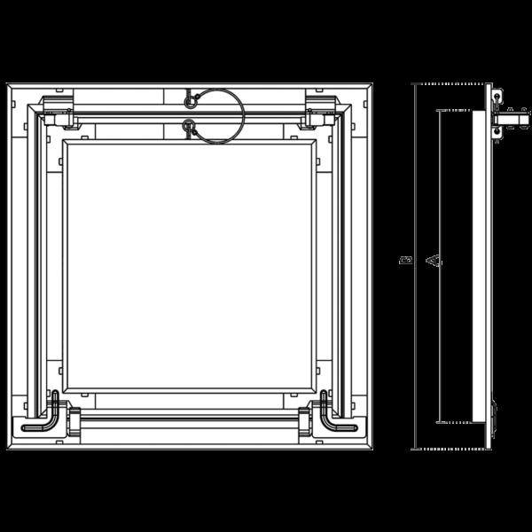Accueil trappe de visite etanche air et poussiere 29 db plp 15 mm eco star airproof 2