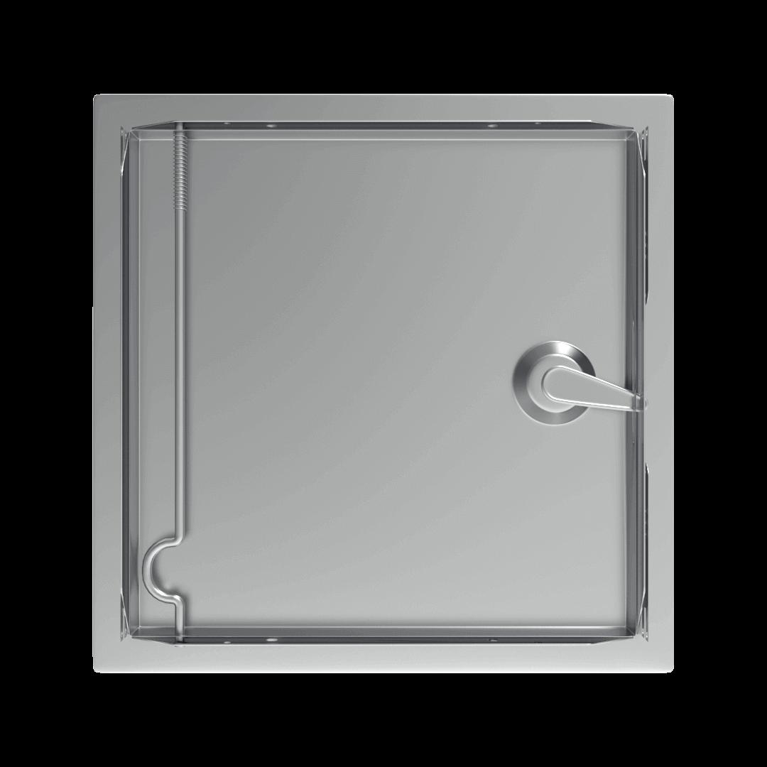 Trappe de visite métallique colorée Tempo Softline Clé cylindrique trappe de visite metallique softline ouverture cle cylindrique derriere