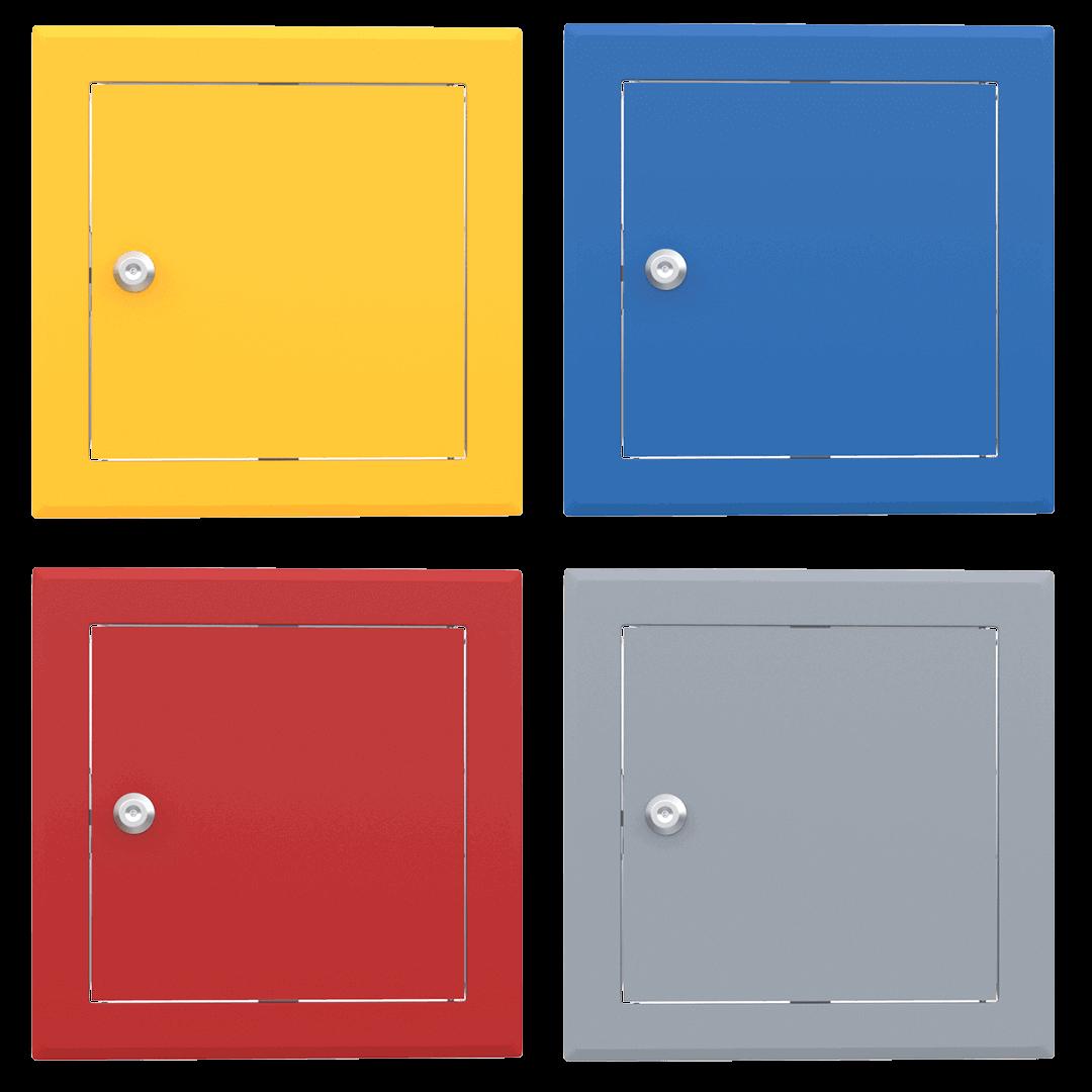 Trappe de visite métallique colorée Tempo Softline Clé cylindrique trappe visite metallique coloree tempo softline cle cylindrique 01