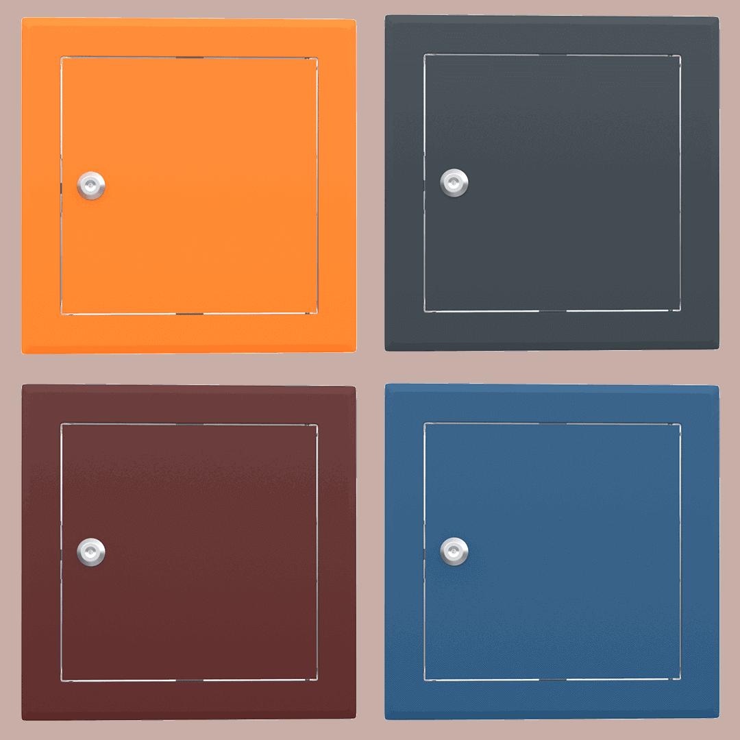 Trappe de visite métallique colorée Tempo Softline Clé cylindrique trappe visite metallique coloree tempo softline cle cylindrique 02